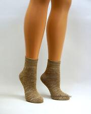 Womens Warm Antibacterial Camel Wool Socks with Copper Fibers