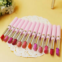 12Color/Set Cosmetic Makeup Bright Lipstick Lip Gloss Rouge Long Lasting Chic