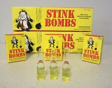 9 STINK BOMBS GLASS VIALS STINKY SMELLY NASTY FART GAS BOMB JOKE GAG GIFT