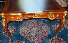 LINKE C 1881 RARE BUREAU PLAT 3 DRAWERS ORMOLU/ KINGWOOD SIGNED ON DESK & LOCKS