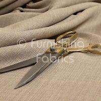 New Linen Effect Soft Lightweigh Upholstery Chenille Interior Fabric Cream Beige
