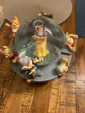 Disney Snow White Musical Snow Globe with Moving Rocking Chair