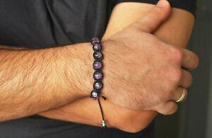 Handmade Amethyst Bracelet , Mens bracelet , Amethyst Men, Healing bracelet men