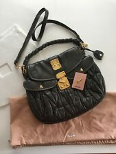 New Miu Miu Prada Astro Matelasse Lux Nappa Leather Coffer Hobo Bag