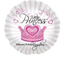 "Little Princess Welcome To Your Kingdom 18"" Balloon Baby Shower Decorations"