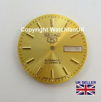 Replacement Dial For Seiko 5 7S26 Models Beautiful Gold Tone 28.5mm