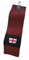 Asbri England Jacquard Trifold Golf Towel Society Gift / Prize St George's Cross