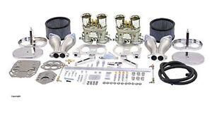 Dual 40mm Carburetor kit EMPI HPMX. VW, Volkswagen Bug, Bus and Ghia Weber