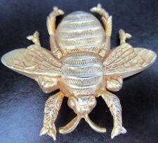 Beautiful Golden Bee Bug Vintage Pin