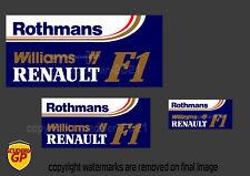More details for williams rothmans f1 logo sticker - scuderia gp