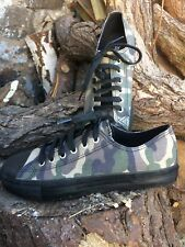 Pleaser Demonia Deviant Camoflage Low Top Canvas Sneakers Trainers Size 6