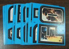 1980 Topps Star Wars Empire Strikes Back Series 2 Complete 33 Blue Sticker Set