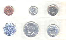 1964 P US Mint Silver Proof Coin Set 1st Kennedy issued BU