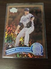 JEREMY HELLICKSON 2011 TOPPS CARD RAYS/ORIOLES  SPECIAL PRINT ( ROOKIE COGNAC )