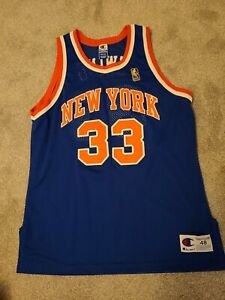 Authentic Vintage New York Knicks Throwback Patrick Ewing Jersey 48 XL Sewn NY
