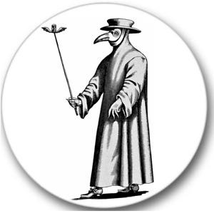 Plague Doctor Sticker Seals No.564, halloween stickers, 12 round stickers