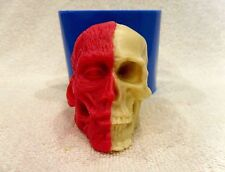 """Half Skull Face"" silicone mold for soap and candles making mould halloween gore"