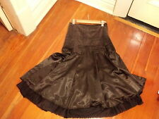 laura ashley corduroy and satin skirt 8 NWOT  chocolate brown.