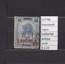 FRANCOBOLLI   REGNO COLONIE ERITREA USATI  (L17766)