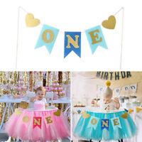 EG_ Fulol ONE Banner Baby Urlap Highchair For Girl Boy First Birthday Party Deco