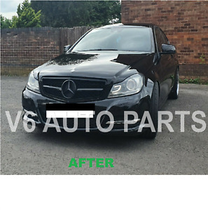 REF7 FRONT BUMPER GRILLE FOR 2007 -2014 BENZ C-Class W204 C250 300 C63 AMG LOOK