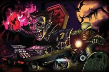 "Original LEGO Art Monster Fighters Vampire Hearse 11""x17"" Poster"