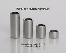 Aluminium Distanzhülsen, ohne Innengewinde, bis M6 durchsteckbar, 8x6x1 mm