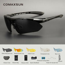 Polarized Cycling Glasses Bike Goggles Sports Sunglasses Uv400 5 Lens Tr90 5 Col Black