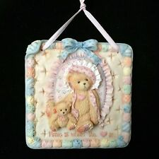 Cherished Teddies Quilts of Friendship Wall Plaque #627372 - Home Is Where...