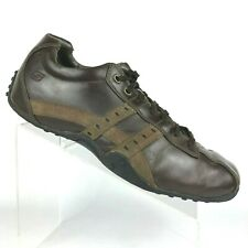 Mens Skechers Citywalk Brown Leather walking heel Bicycle Toe Sneaker Size:10.5