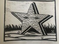 Engraving by Ibrahim Miranda.  ̈Monument. ̈ Year 1999. Original signed