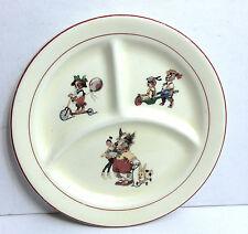 Vintage Crown Potteries C.P Co Terriers Dogs Child's Bowl