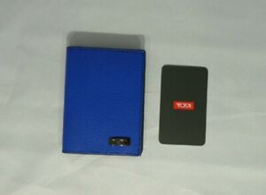 TUMI DFO HORIZON GUSSETED LEATHER CARD CASE COBALT BLUE WALLET#017556CBXO-NWTNWT