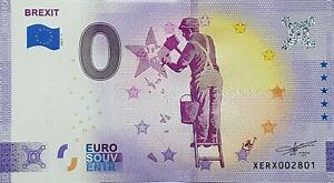 0 Euro Schein Brexit (2021-1) - Souvenir Null € Souvenirschein Sammler rar