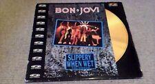 "BON JOVI SLIPPERY WHEN WET 1st UK POLYGRAM MUSIC 12"" CD PAL VIDEO DISC 1987"