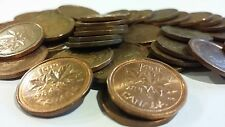 FULL ROLL 1984 CANADA ONE CENT PENNIES CIRCULATED