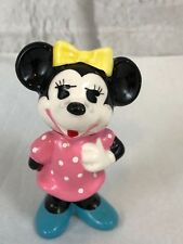 Walt Disney Productions Minnie Mouse Pink Dress Vintage Figurine Collectible