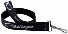 "Lanyard 1"" Key Chain Ring Neck Card ID Dodge Challenger SRT Black White"