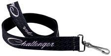 "Lanyard 1"" Key Chain Ring Neck Card ID Dodge Challenger SRT Black White"