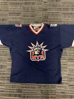 "VTG- NHL New York Rangers Pro Player Blue ""Lady LIberty"" Hockey Jersey - Great !"