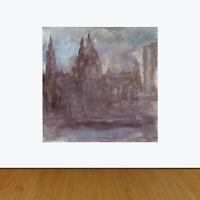 Port of Liverpool Mersey Pre-Raphaelite Style England Original Oil Painting