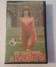 To The Devil A Daughter VHS Big Box Continental Video Hammer  Horror