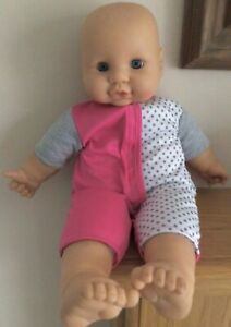 """Very Cute Approx 17"""" Cititoy Soft Bodied Baby Doll In Nice All In One Outfit."""