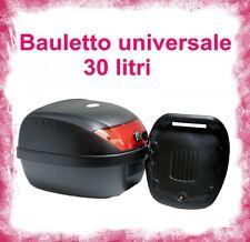 Baule Bauletto da Moto per Scooter Portacasco Posteriore 30 litri nero 30LT 30 L
