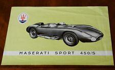 Maserati 450/S 'Tipo 54' leaflet Prospekt, 1957