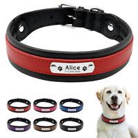 Pelle Collare personalizzato Collare per cani Nome Colletto Spedizione gratis