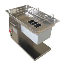 110V Stainless Steel Commercial Meat Slicer Cutting Machine 3mm Blade 500Kg/Hour