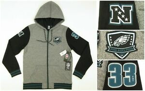 NEW! NFL Team Apparel 1st Collection Philadelphia Eagles Jacket Hoodie LARGE $75