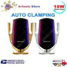 Automatic Clamping Wireless Smart Sensor Car Phone Holder and Fast Charger 10W