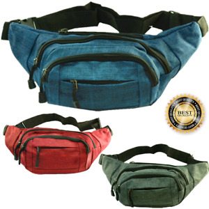 Fanny Pack Waist Canvas Belt Hip Bag Travel Sports Pouch Purse Sport Bum Bag Lot